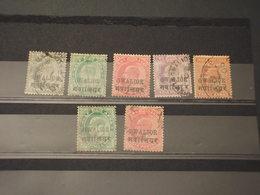 GWALIOR - 1903/7 RE 7VALORI, Insieme/set - TIMBRATItUSED - Gwalior
