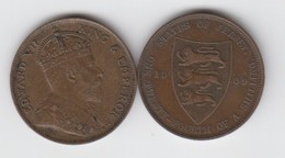 Jersey Coin Edward V11 One Twentyforth Of A Shilling 1/24 Dated 1909 - Jersey