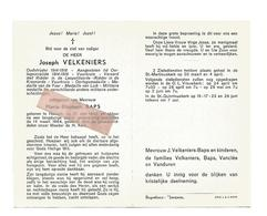 D 602. JOSEPH VELKENIERS -Oudstrijder 14/18-Ridder Leopoldsorde En Kroonorde-Vuurkruis-Medaille Yzer - HASSELT 1893/1964 - Images Religieuses