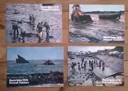 Lot De 4 Cartes Postales / Marée Noire Mars 1978 Portsall / Cim - Catastrophes