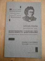Toneelseizoen 1936 Dendermonde Schubert Liefdeslied Het Ros Beiaard - Programs