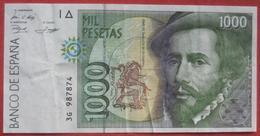 1000 (Mil) Pesetas 1992 (WPM 163) - [ 4] 1975-… : Juan Carlos I