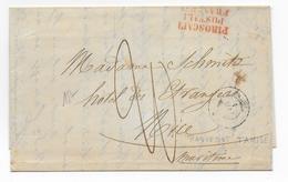 "1856 - LETTRE De CONSTANTINOPLE (TURQUIE) Avec CACHET MARITIME Du PAQUEBOT MEDITERRANEE ""TAMISE"" + ""PIROSCAFI.."" => NICE - Postmark Collection (Covers)"