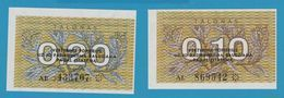 LITHUANIA  0,10 + 0,20 Talonas 1991 Lietuvos Respublika - Lituanie
