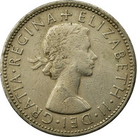 Monnaie, Grande-Bretagne, Elizabeth II, Florin, Two Shillings, 1964, TTB - 1902-1971 : Monnaies Post-Victoriennes