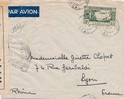 Lettre Dakar Senegal Poste Aerienne Censure Pour Lyon - Sénégal (1887-1944)