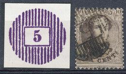 COB 13 MET MOOIE D5 STEMPEL EN REPRODUCTIE HIERVAN Zie Scan(s) - 1863-1864 Médaillons (13/16)