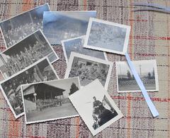 Mars 1943. 2e Guerre. Bruyères (Vosges). Match De Football Wehrmacht + Cimetière Allemand (avec Croix De Faîte?) - 1939-45