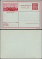 """Belgique 1931- EP Képi 1F Rouge : Anvers """" La Rade """" (DD) DC 2058 - Entiers Postaux"""