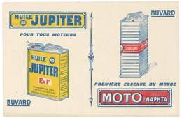 Buvard Huile Jupiter Pour Tous Moteurs , ESSENCE, Moto Naphta - Hydrocarbures