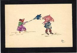 CPA Carte Faite à La Main Avec Des Timbres Découpés, Philatélie Non Circulé - Stamps (pictures)
