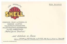 Buvard Huile Pour Moteurs , Shell, Pétroles Jupiter - Hydrocarbures