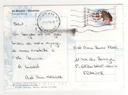 """Timbre , Stamp   """" Maquette De Bateau  """"  Sur Cp , Carte , Postcard Du 18/07/2006 - Maurice (1968-...)"""