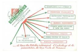Buvard Ets Gattini & Cie, Papeteries , Avignon ( Autre Version ) - Stationeries (flat Articles)