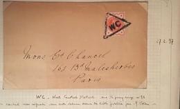 Grande Bretagne N°91 Sur Lettre Oblitérée Du Cachet Triangulaire  WC (West Central) Du  27/2/1897 Non Signalé - Storia Postale