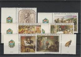 VENEZUELA   CENTENAIRE DE LA NAISSANCE DU PEINTRE  ARTHUR MICHELENA PA 885 /887 Et  POSTE 741/743 - Venezuela
