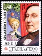 Vatican 2018 Mi 1945 150th Anniversary Of The Death Of Gioachino Rossini - Vaticano (Ciudad Del)