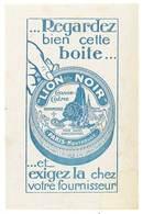 Buvard Boite Lion Noir , Cirage Crème - Buvards, Protège-cahiers Illustrés