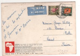 "Timbres , Stamps  Yvert N° 19 , 26  "" Poisson ""  Sur Cp , Carte , Postcard - Tanzanie (1964-...)"