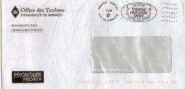 MONACO Flamme Théatre Princesse Grace S/env 1.2.19 - Marcophilie - EMA (Empreintes Machines)