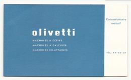 """Carte De Visite """" Olivetti """" Lorillou Bellier à Orléans - Cartes De Visite"""