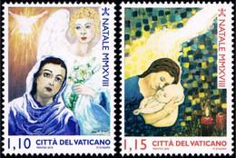Vatican 2018 Mi 1949-1950 Christmas 2018 - Vaticano (Ciudad Del)