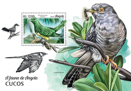 ANGOLA 2018 - Cuckoos S/S. Official Issue - Coucous, Touracos