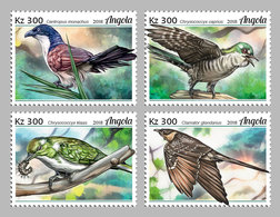 ANGOLA 2018 - Cuckoos, 4v. Official Issue - Coucous, Touracos