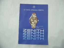 CATALOGO DEPLIANT INSERTO SPECIALE COLLEZIONE ZENITH   VINTAGE- - Pubblicitari