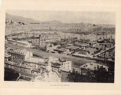 Italie :Genes Panorama Da Villa Rosazza (reproduction De Photo Ancienne En Noir Et Blanc De 20 Cm Sur 27 Cm) - Photographie