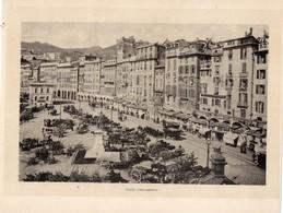 Italie :Genes Piazza Caricamento (reproduction De Photo Ancienne En Noir Et Blanc De 20 Cm Sur 27 Cm) - Photographie