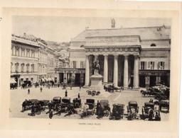 Italie :Genes Teatro Carlo Felice (reproduction De Photo Ancienne En Noir Et Blanc De 20 Cm Sur 27 Cm) - Photographie