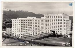 CILE - CHILE.z - SANTIAGO - PLAZA GENERAL BULNES - 1953 - Vedi Retro - Formato Piccolo - Cile