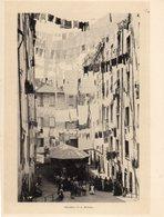 Italie :Genes Truogoli Di S. Brigida (reproduction De Photo Ancienne En Noir Et Blanc De 20 Cm Sur 27 Cm) - Photographie