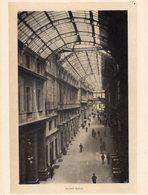Italie :Genes Galeria Mazzini (reproduction De Photo Ancienne En Noir Et Blanc De 20 Cm Sur 27 Cm) - Photographie