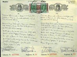 V22 CONTRATTI DI BORSA CON MARCHE DA L. 10.000 E 5.000 - Documenti Storici