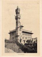 Italie :Genes Castello Mackenzie (reproduction De Photo Ancienne En Noir Et Blanc De 20 Cm Sur 27 Cm) - Photographie