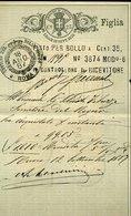 V23 CONTRATTI DI BORSA CENT 25 , 1887 - Documenti Storici