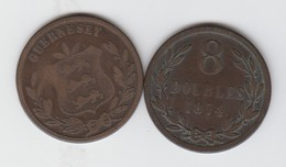 Guernsey Coin 8 Doubles 1874 - Guernesey