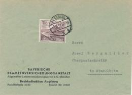 Deutsches Reich - 1939 - 15Pf Winterhilfswerk On Commercial Cover From Ausgburg To Mindelheim - Germany