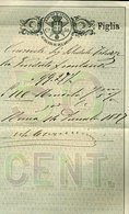 V24 CONTRATTI DI BORSA CENT 50 , 1887 - Documenti Storici