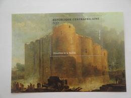 1989 Centrafricaine Yv BF58 ** MNH French Revolution Française Cote 5.50 € Michel B 467 Scott 927 - Repubblica Centroafricana
