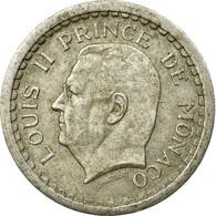Monnaie, Monaco, Louis II, 2 Francs, Undated (1943), Paris, TB+, Aluminium - Monaco