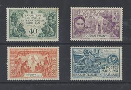 SOUDAN  YT  N° 89/92  Neuf **  1937 - Soudan (1894-1902)