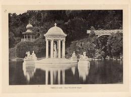 Italie :Genes Tempio Di Diana- Villa Pallavicini (reproduction De Photo Ancienne En Noir Et Blanc De 20 Cm Sur 27 Cm) - Photographie