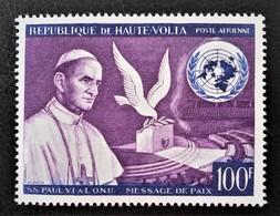 MESSAGE DE PAIX DE SA SAINTETE LE PAPE PAUL VI  1966 - NEUF ** - YT PA 33 - MI 207 - Upper Volta (1958-1984)