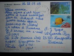 Maurice , Lettre De Grand Bay 2009 Pour Longeville - Maurice (1968-...)