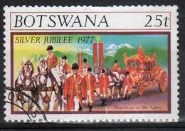 Botswana 1977 Single 25t Commemorative Stamp From The Silver Jubilee Set. - Botswana (1966-...)
