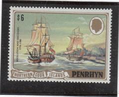 "VV5 - PENRHYN 186 ** MNH De 1981 -"" RESOLUTION"" Et ""DISCOVERY""  1776 -1780 De Captain COOK- - Penrhyn"