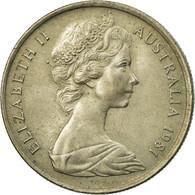 Monnaie, Australie, Elizabeth II, 5 Cents, 1981, TTB, Copper-nickel, KM:64 - Monnaie Décimale (1966-...)